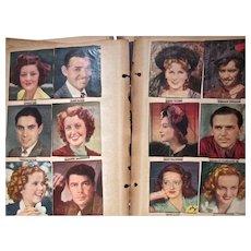 VIntage 1930's Movie Star Scrapbook, Gable, Harlow, Temple, WC Fields