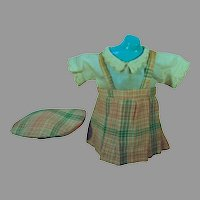 Charming 1940's Doll Jumper, Blouse and Hat