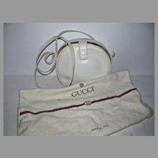 Vintage Brown White Gucci Shoulder Purse with Dust Bag