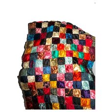 Vintage Patchwork Quilt Made From Men's  Ties