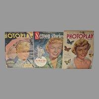 1950's Movie Magazines w/ Doris Day Covers