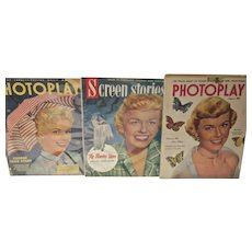 1950's Movie Magazines w/ Doris Day Covers