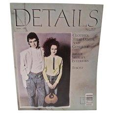 VIntage Details Magazine, Bruce Weber, 1980's NYC Club Scene, 1987
