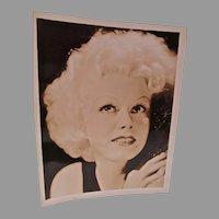 VIntage Sepia Print of Hollywood Star, Jean Harlow, 1930's