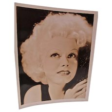 VIntage Sepia Print of Hollywood Star, Jean Harlow, 1930's