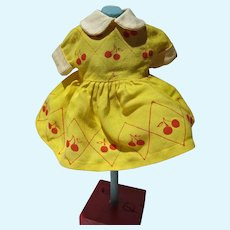 Vintage Yellow Cotton Doll Dress, 1960's