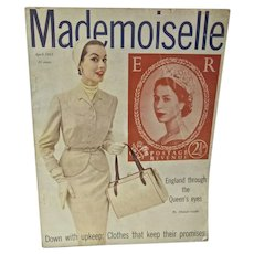 VIntage Mademoiselle Fashion Magazine, April, 1953