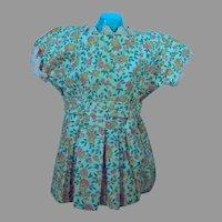 Vintage 1940's Floral Doll Dress