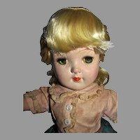 "Beautiful 19"" P92 Toni Doll, Original Dress, 1950, Ideal"
