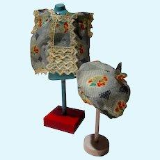 1930's Charming Doll Dress & Hat