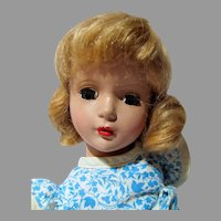"Charming 14"" HP Madame Alexander Doll, 1950's"