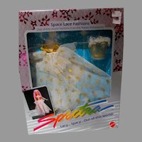 Mattel NRFB Space Lace Fashions, Ball Gown, Spectra Dolls, 1986