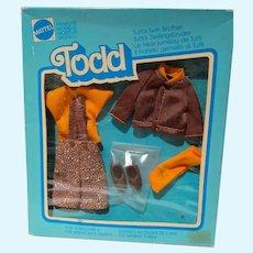 NRFB Mattel Todd Outfit, School Beginning, 1980, European Market, Marked Sample