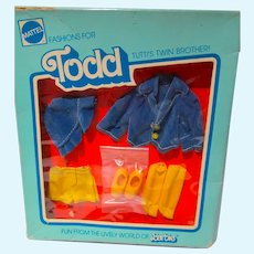 Vintage Mattel NRFB Todd Outfit,  Going On A Big Trip, 1978, European Market