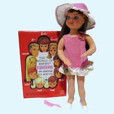 Vintage Mattel Tutti Doll, 1966, Brunette