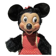 Gund Minnie Mouse Rubber Face Plush Figure, 1950's