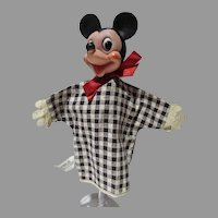 Vintage Mickey Mouse Hand Puppet, Gund, 1950's