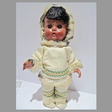 1950's Eskimo Doll, All Orig. Reliable Dolls, Canada