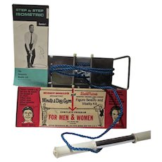 Vintage Mickey Mantle Isometric Minute A Day Gym, MIB,  1964