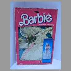 NRFB Mattel Barbie Romantic Wedding Outfit, 1986