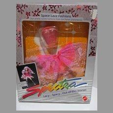 NRFB Vintage Mattel Spectra Space Lace Fashion Party Dress, 1986