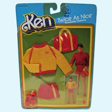 NRFC Mattel Ken Twice As Nice Fashion, Double Play, 1983