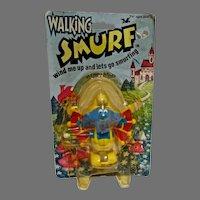 1982 MOC Walking Smurf Flying Smurf Wind Up, Galoob