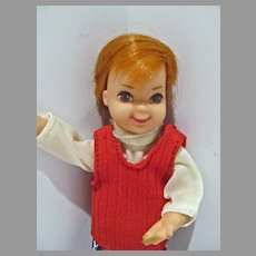 VIntage Mattel Todd Doll, 1977,  European Market in Outfit#7484