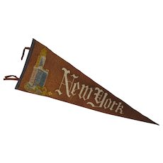 1930's Felt New York City Pennant Souvenir