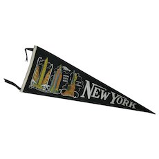 1940's New York City Souvenir Pennant
