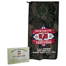 30th G.I. Joe National Convention Dealer Table Covering, and Official Membership  Certificate