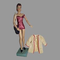 "Terrific, Vintage 12 1/2"" Marianne Mannequin Doll in Bathing Suit, 1940's"