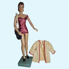 "Terrific, Vintage 12 1/2"" Marianne Mannequin Doll in Bathing Suit, 1940's"