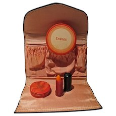 VIntage Tangee Make-Up Set in Purse, Bakelite, 1930's
