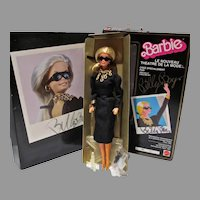 Mattel MIB Le Nouveau Theatre De La Mode Barbie, Billy Boy Signed Box, 1985