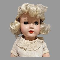 "Effanbee HP Honey 14"" Doll w/Platinum Hair, 1950's"