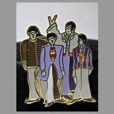 The Beatles Metal Lapel Pin, Yellow Submarine, MFS Suba Films