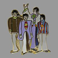 The Beatles Metal Lapel Pin, Yellow Submarine, MFS Suba Films