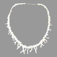 Vintage Angel Skin Coral Branch Necklace