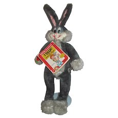 Vintage Mattel Talking Bugs Bunny Plush Figure, 1979