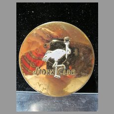 Vintage Stork Club NY Ladies Compact, 1940's
