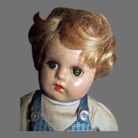 "Vintage Madame Alexander 11"" Compo& Cloth Butch Doll, 1940"