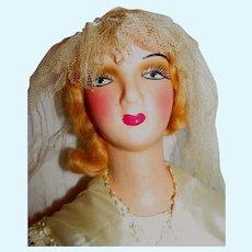 Vintage 1930's Wedding Boudoir Doll