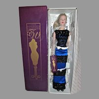 Robert Tonner Tyler Wentworth Fashion Doll is Blue&Black Gown w/Box& Stand