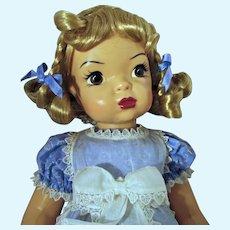 "Knickerbocker 16"" Terri Lee Little Lady Pinafore Doll, Mint!"