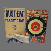 "1930's Marx ""Bust-Em"" Tin Target Game w/Orig. Box"