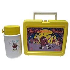 Vintage 1988 California Raisins Plastic Lunch Box & Thermos