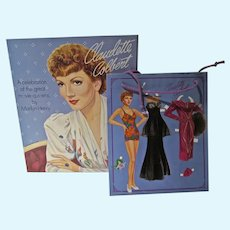 Vintage 1994 Claudette Colbert Paper Dolls by Marilyn Henry w/Extra!