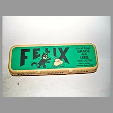 "Rare Felix,The Cat ""Cackle  Fresh"" Egg Carton"
