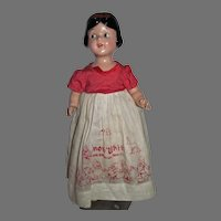 """Vintage Ideal Snow White 18"""" Composition and Cloth Doll, 1939"""